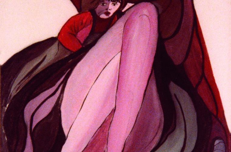 1977 Io e Francesca, tempera su tela, cm. 60x80